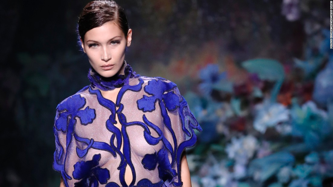 "Fendi is unique on the couture catwalk as they present what they term as ""haute fourrure"" -- collections based entirely on fur. Models like Bella Hadid, seen here on the Fendi runway, are also helping to open up the world of couture to a wider audience with their high number of social media followers."