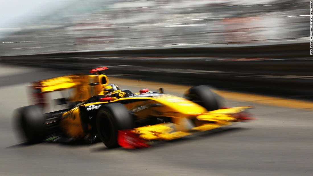 Kubica competing for the Renault F1 team at the 2010 Monaco Grand Prix. The Pole, now 32, finished on the podium 12 times in his F1 career, three of those coming with the French team.