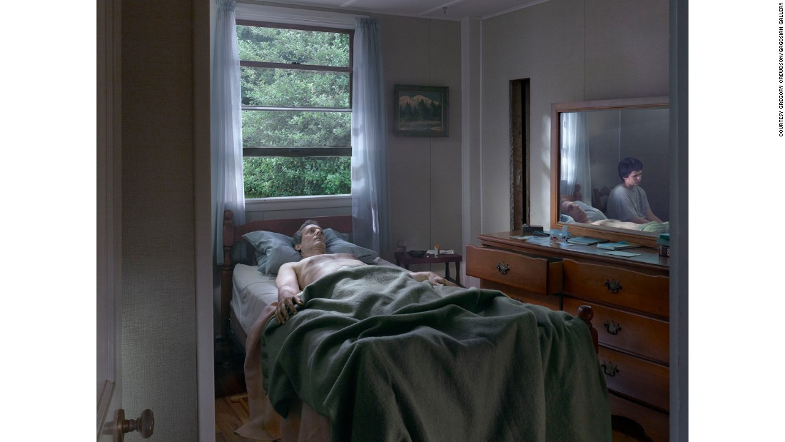 It's a change for Crewdson, who typically sets his photos in small-town America.