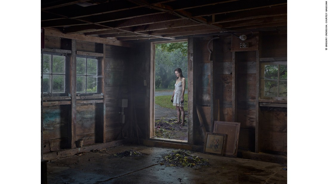 "Gregory Crewdson's latest series, ""Cathedral of the Pines,"" was shot in the rural Berkshires in western Massachusetts."