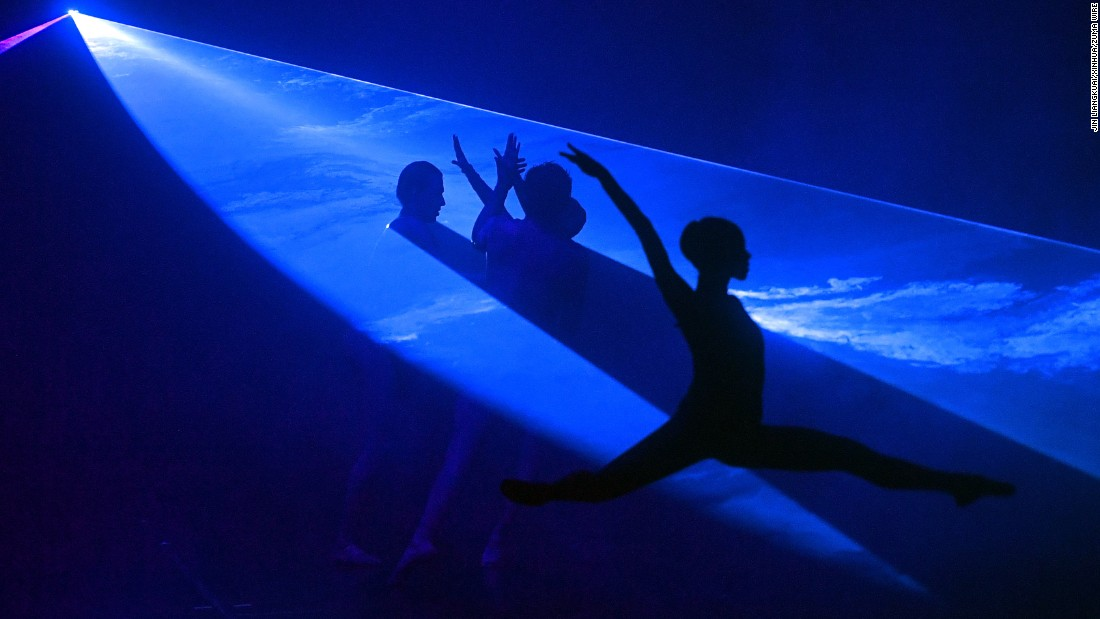 "Ballet dancers from Dortmund, Germany, perform ""Faust II"" in Beijing on Tuesday, July 4."