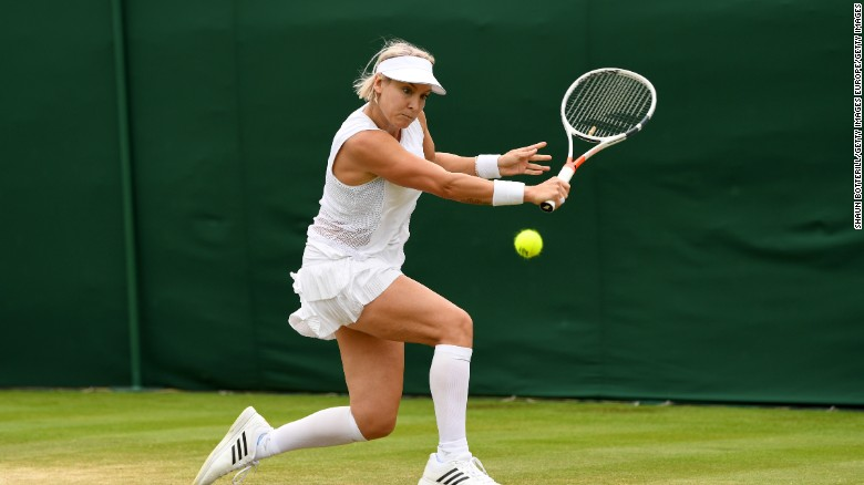 America's Bethanie Mattek-Sands suffered a bad fall in her second round match with Romania's Sorana Cirstea.
