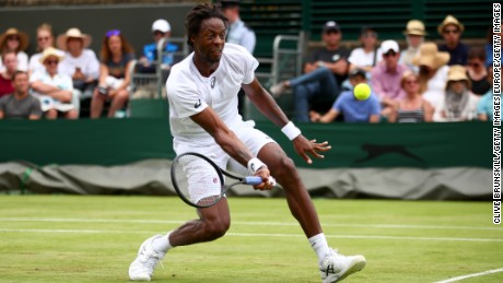 France's Gael Monfils has never advanced past the third round at Wimbledon.