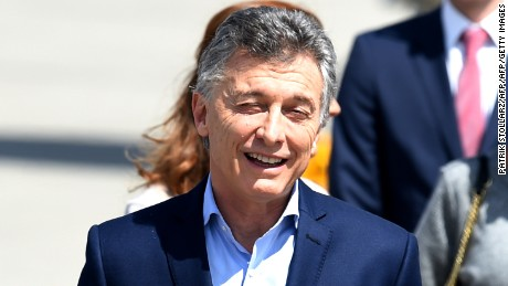 Argentina´s President Mauricio Macri arrives at the airport in Hamburg, northern Germany on July 6, 2017 to attend the G20 meeting.  Leaders of the world's top economies will gather from July 7 to 8, 2017 in Germany for likely the stormiest G20 summit in years, with disagreements ranging from wars to climate change and global trade. / AFP PHOTO / PATRIK STOLLARZ        (Photo credit should read PATRIK STOLLARZ/AFP/Getty Images)