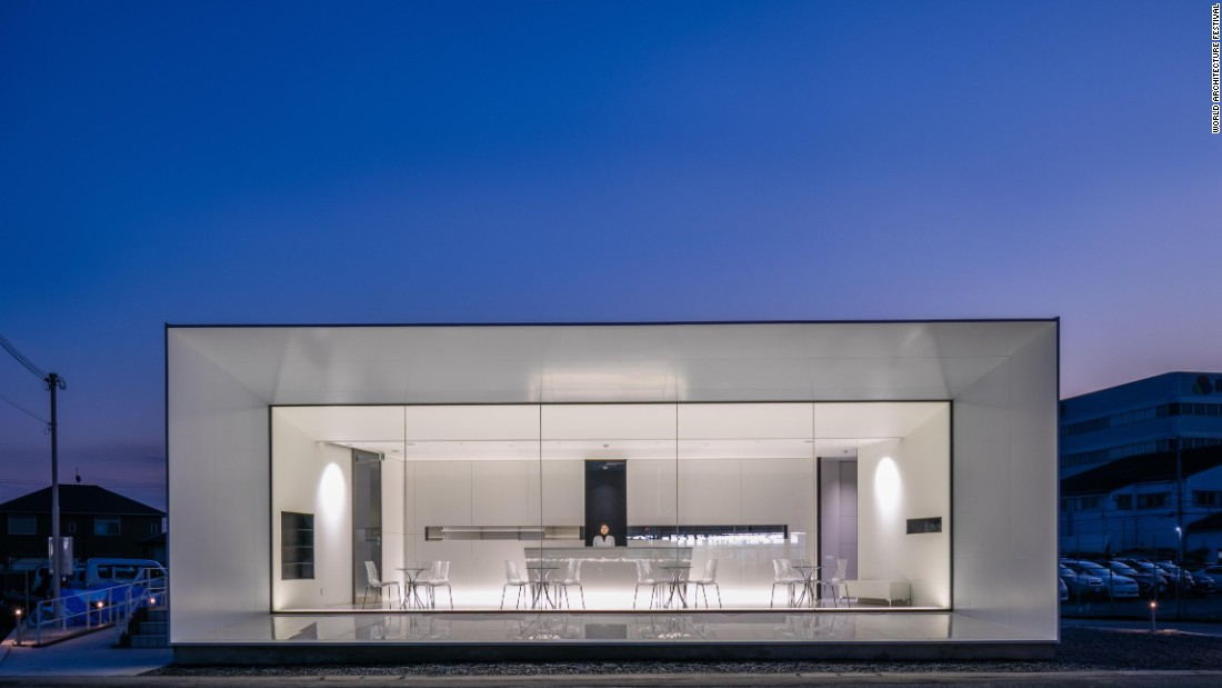 "This pharmacy in Himeji City, Japan, features a minimalist white interior with black accents. The architects hope that the interior will convey a sense of ""advanced medical care"" that patients would expect."