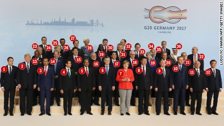 Who's who in the 2017 class photo of G20 leaders