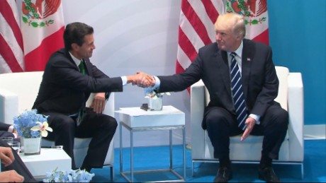Sitting alongside Peña Nieto, Trump says he 'absolutely' still wants Mexico to pay for wall