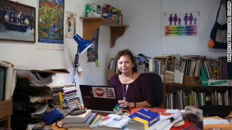 Morena Herrera, a former Marxist guerrilla commander, is now the Director of the San Salvador Feminist Collective.