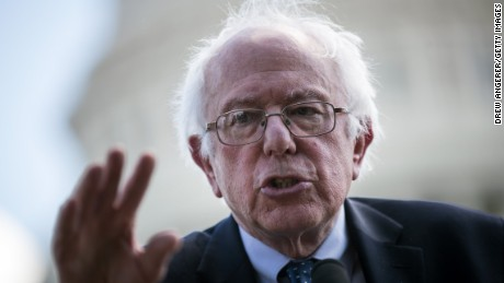 WASHINGTON, DC: U.S.  Sen. Bernie Sanders (I-VT) speaks about health care on Capitol Hill, June 26, 2017 in Washington, DC. Sanders and Rep. James Clyburn (D-SC) are introducing the Community Health Center and Primary Care Workforce Expansion Act. (Drew Angerer/Getty Images)