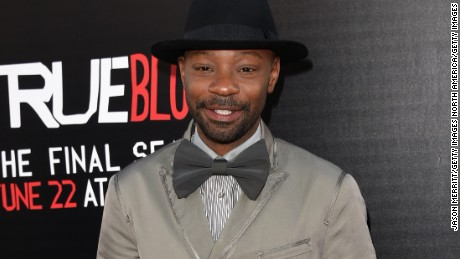 "Actor Nelsan Ellis attends the premiere of HBO's ""True Blood"" season 7 and final season at TCL Chinese Theatre on June 17, 2014 in Hollywood, California."