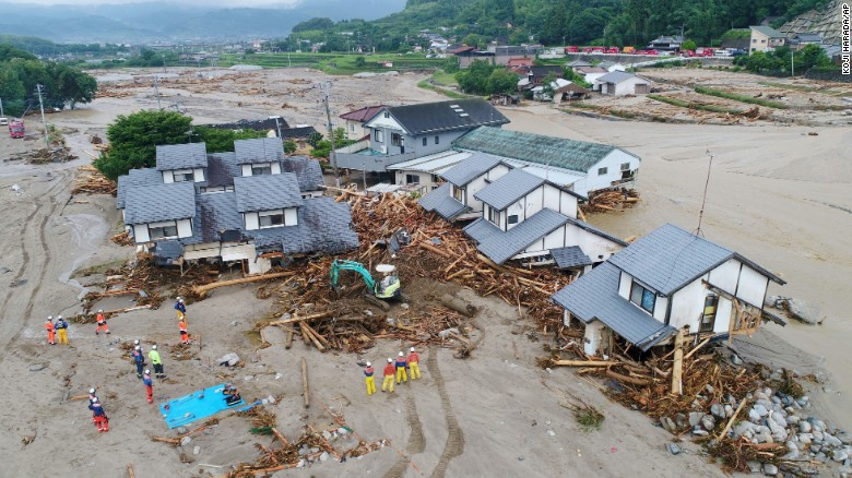 Japan hit with deadly floods and landslides