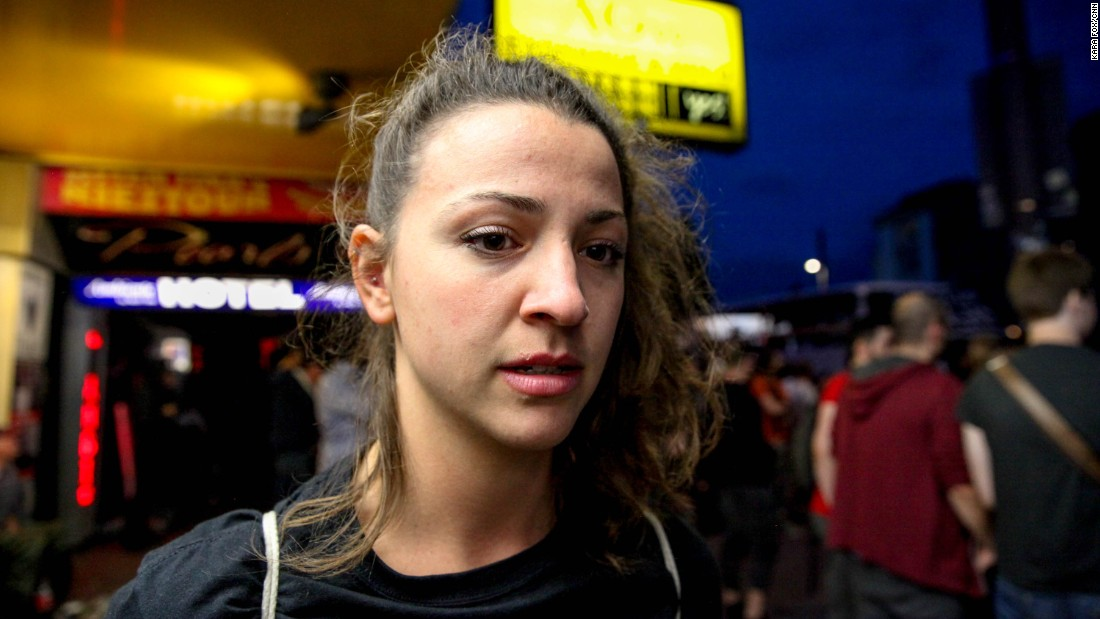 "Julia Reusing, 27: ""Revolution must not be full of agression. Revolution means love -- not to come together and fight."""