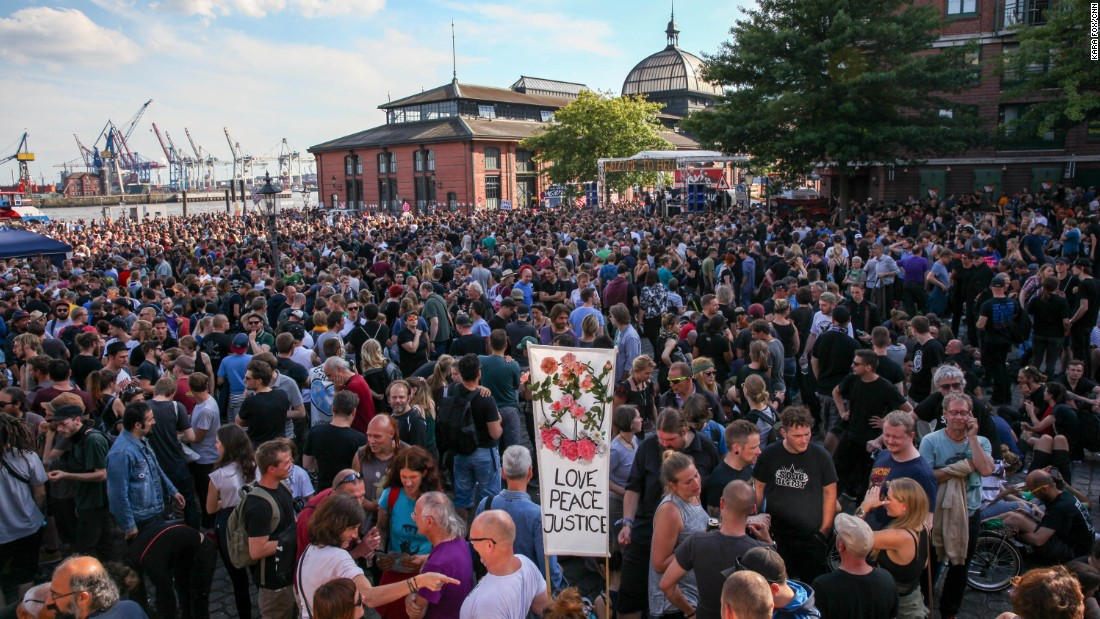 """Up to 12,000 people attended the  anti-G20 protest, """"Welcome to Hell."""""""