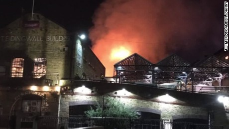 Fire at London's Camden Market 'under control'
