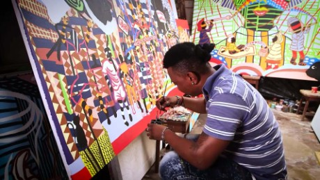African Voices Boris Nzebo uses painting to start conversations in Cameroon B_00035326