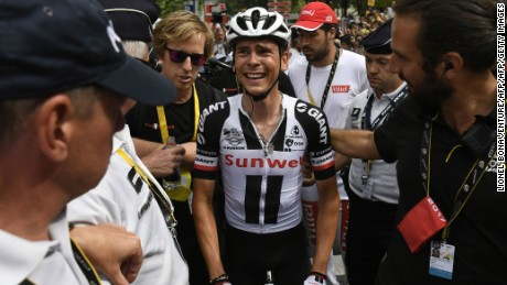 """I thought that I had won,"" said second-placed Barguil, disconsolate after the photo finish. ""It's hard but that's sport."""