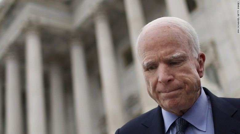 John McCain undergoes procedure to remove blood clot above left eye
