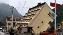 5-story building washed away