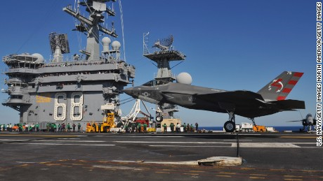 Iranian drone flies 'dangerously' close to US aircraft carrier