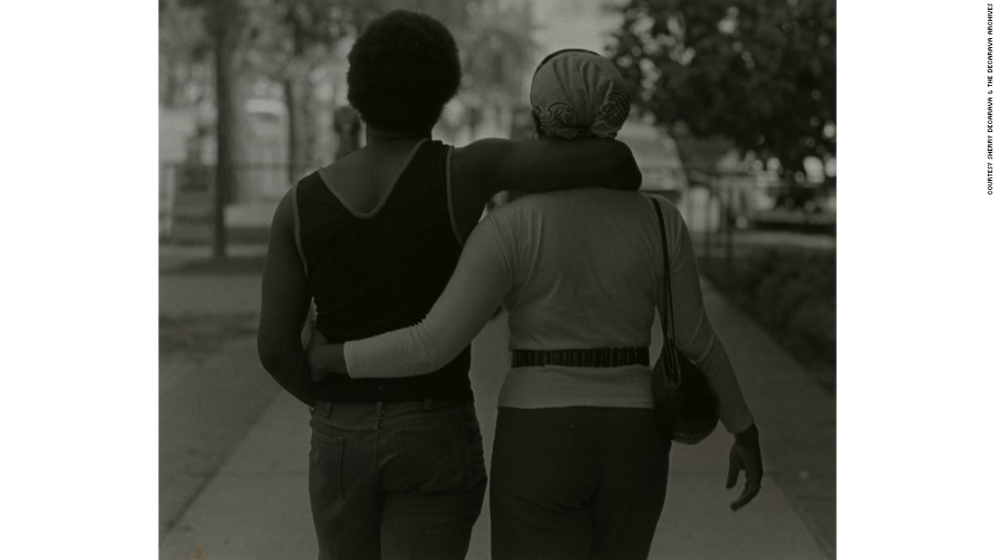 """Couple Walking"" (1979) by Roy DeCarava"