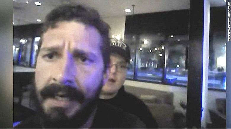 Shia LaBeouf arrest video shows actor's rant