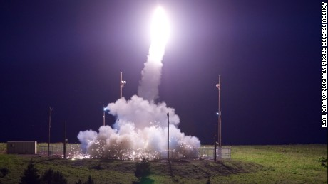 A Terminal High Altitude Area Defense (THAAD) interceptor is launched from the Pacific Spaceport Complex Alaska in Kodiak, Alaska, during Flight Test THAAD (FTT)-18 on July 11, 2017. During the test, the THAAD weapon system successfully intercepted an air-launched intermediate-range ballistic missile (IRBM) target.