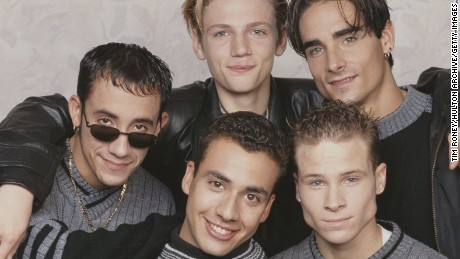 American boy band the Backstreet Boys, circa 1995. They are A. J. McLean, Howie Dorough, Nick Carter, Kevin Richardson, and Brian Littrell. (Photo by Tim Roney/Getty Images)