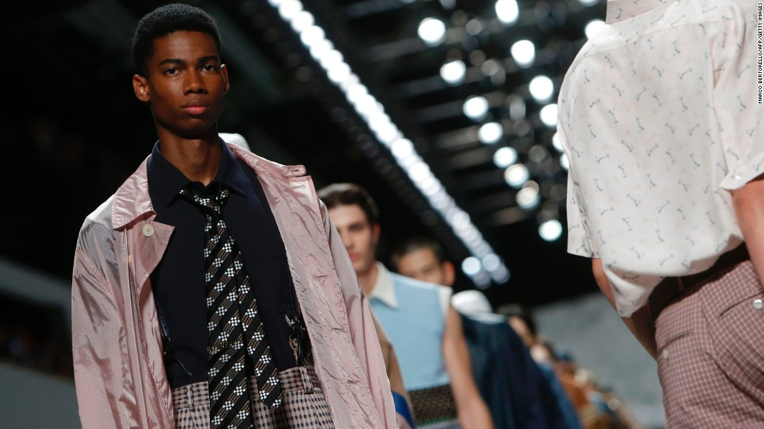 Fendi's collection was a new take on modern business attire.