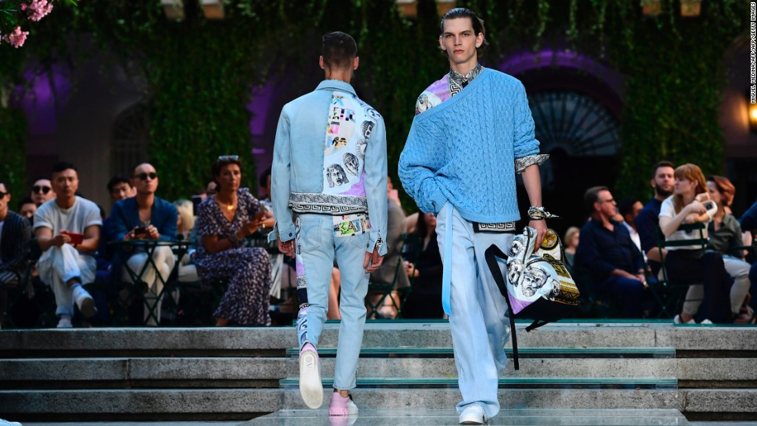 Versace reappopriated their classic '90s prints on silk shirts and jackets.