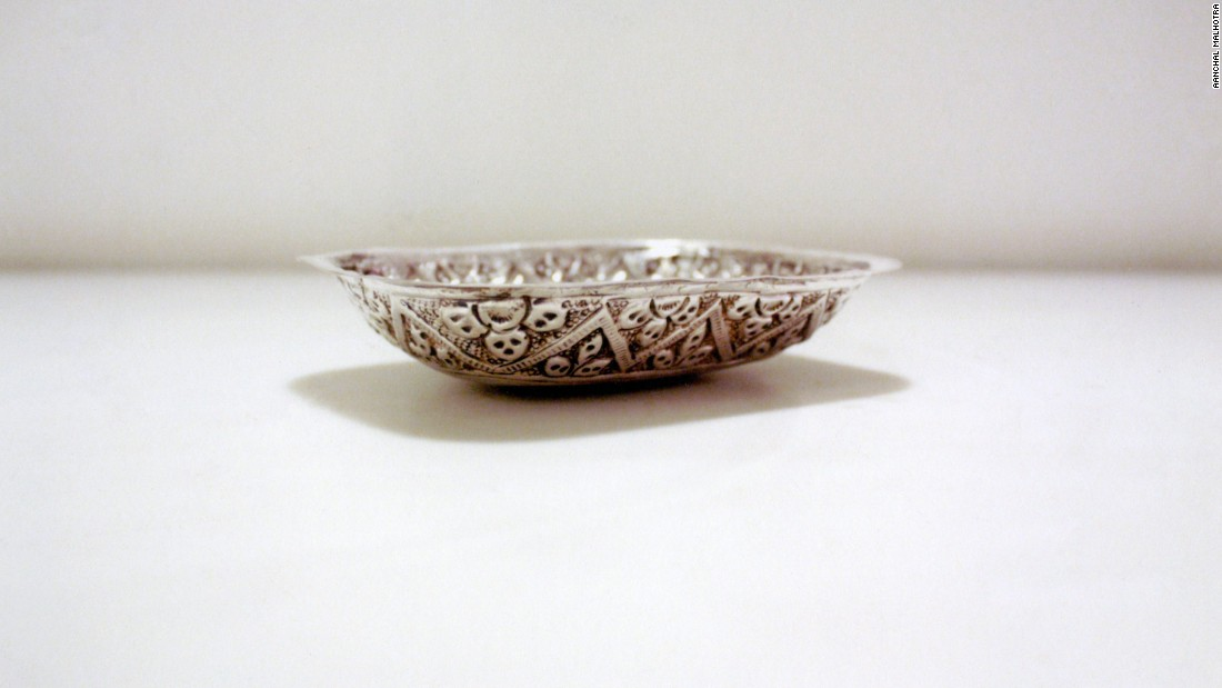 Kohli says that his house was one of only ten Hindu homes in a predominantly Muslim neighborhood. As Partition riots broke out, his family fled with the few possessions they could carry, including this silver soap dish.