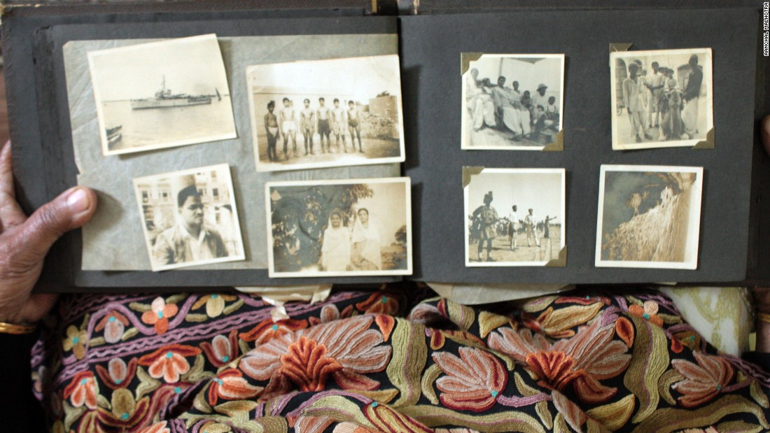A photo album carried from Karachi to Delhi.