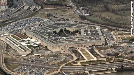 The Pentagon, the headquarters of the US Department of Defense, located in Arlington County, across the Potomac River from Washington, DC is seen from the air January 24, 2017.  / AFP PHOTO / Daniel SLIM        (Photo credit should read DANIEL SLIM/AFP/Getty Images)