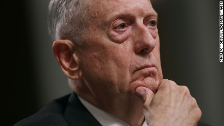 WASHINGTON, DC - JUNE 13:  U.S. Defense Secretary James Mattis testifies before the Senate Armed Services Committee during a hearing in the Dirksen Senate Office Building on Capitol Hill June 13, 2017 in Washington, DC. Mattis and other Pentagon leaders testified about the proposed FY2018 National Defense Authorization Budget Request.  (Photo by Chip Somodevilla/Getty Images)