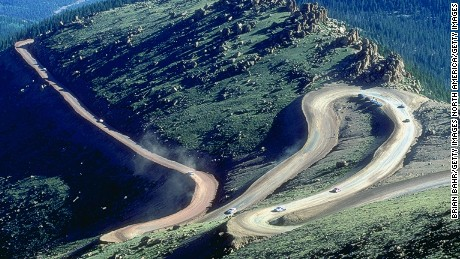 1 Jul 1998:  General view of the action during the Pikes Peak International Hill Climb at Pikes Peak Highway in Colorado Springs, Colorado. Mandatory Credit: Brian Bahr  /Allsport