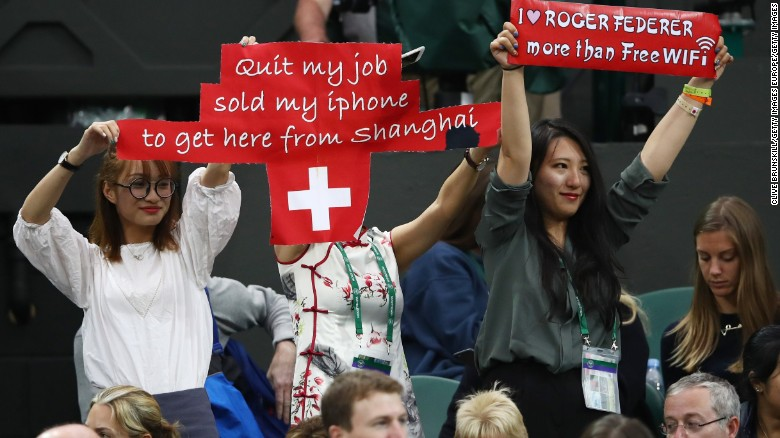 Federer fans at Wimbledon