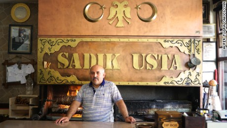 Sadik Candan has been running his popular kebab shop in central Ankara for decades.