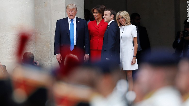 Trump comments on Macron's wife's appearance