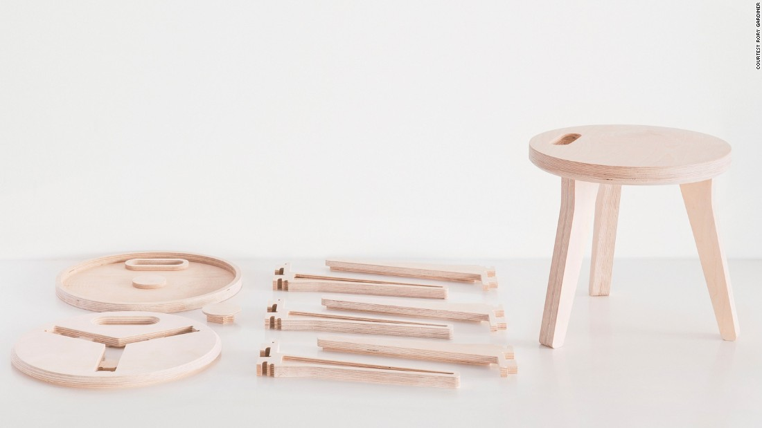 Continuing the plywood tradition today, David and Joni Steiner designed their Edie stool with birch plywood.