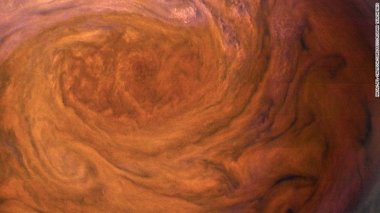 The Great Red Spot, up close and personal, July 2017.