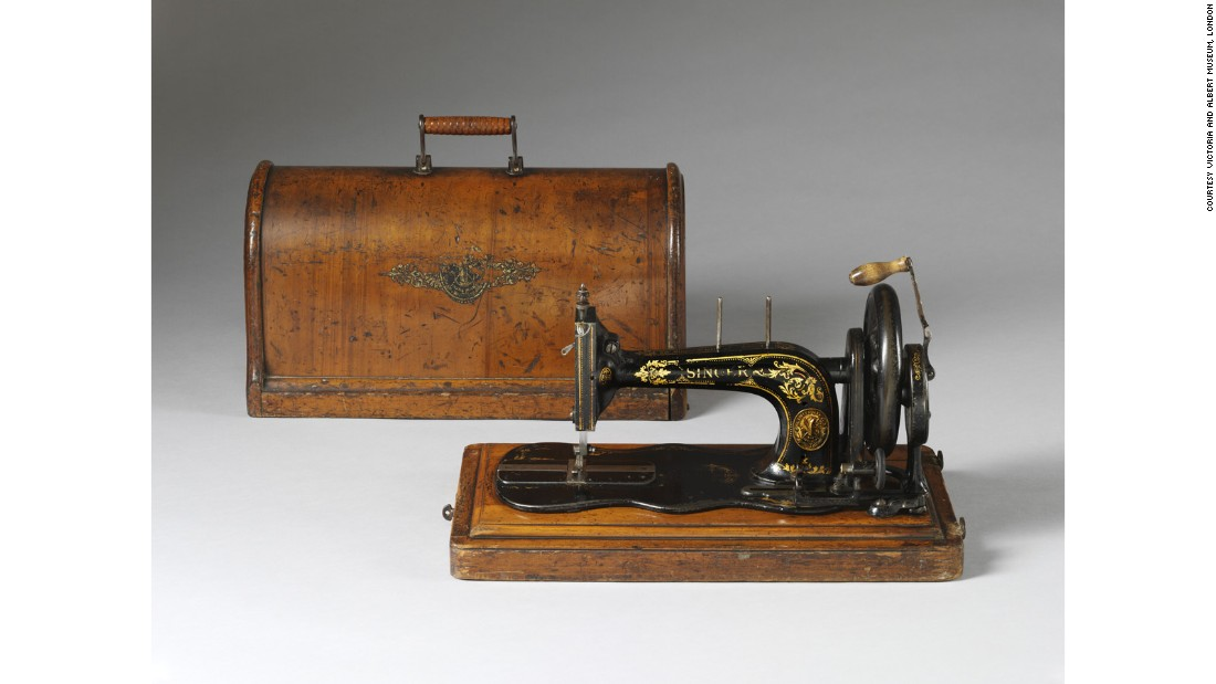 The invention of the rotary veneer cutter in the 19th century meant plywood was used ubiquitously throughout the Victorian home, such as this Singer sewing machine with molded plywood cover from 1888.