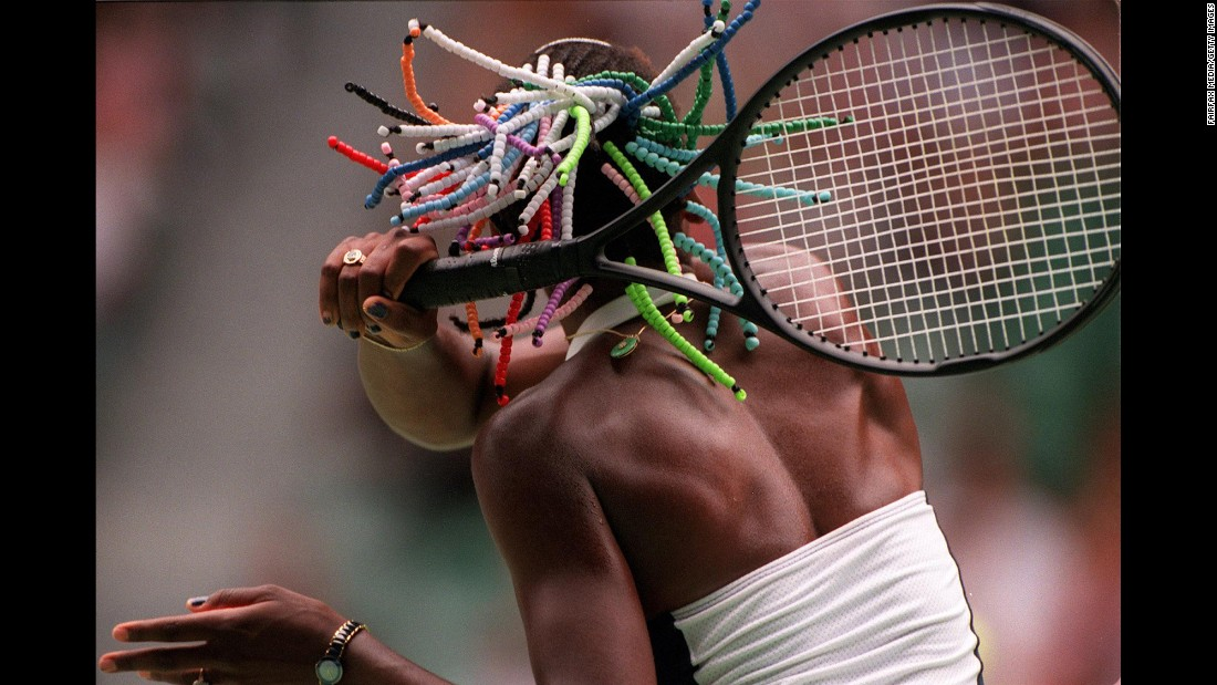 Venus hits a forehand during the Australian Open in January 1999. She advanced to the quarterfinals that year, but her breakthrough would come soon.