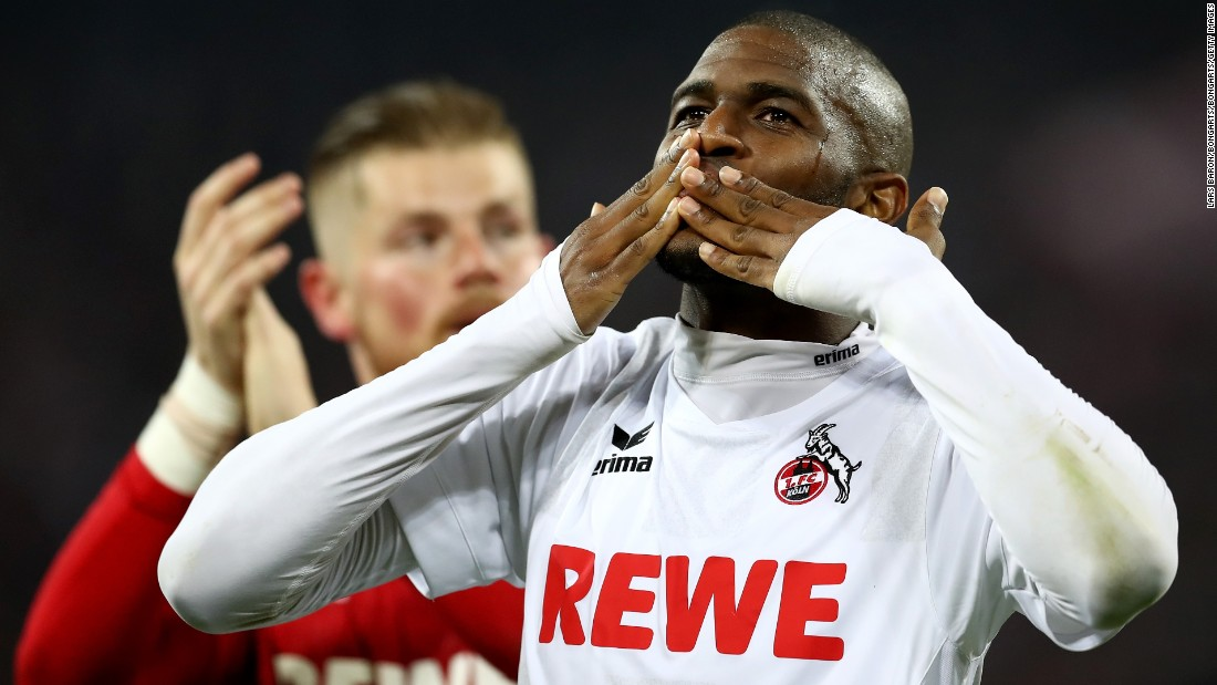 The 28-year-old Anthony Modeste had a late breakthrough season during the 2016/17 campaign where he found the back of the net 27 times in 37 appearances for FC Köln. Modeste joins a Tianjin side eager to challenge Guangzhou Evergrande's dominance after Luiz Felipe Scolari's team won the last six Chinese Super League titles.
