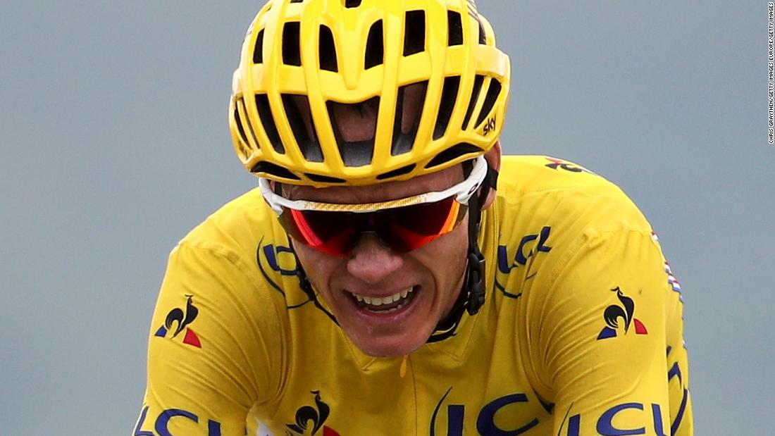 Chris Froome is a three-time Tour de France champion and was leading the 2017 edition until stage 12 when Italy's Fabio Aru took hold of the yelllow jersey.
