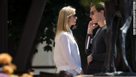 SUN VALLEY, ID - JULY 13: (L to R) Ivanka Trump, assistant to President Donald Trump and daughter of President Trump, and Jared Kushner, White House senior advisor to the president for strategic planning and son-in-law to President Donald Trump, attend the third day of the annual Allen & Company Sun Valley Conference, July 13, 2017 in Sun Valley, Idaho. Every July, some of the world's most wealthy and powerful businesspeople from the media, finance, technology and political spheres converge at the Sun Valley Resort for the exclusive weeklong conference. (Photo by Drew Angerer/Getty Images)