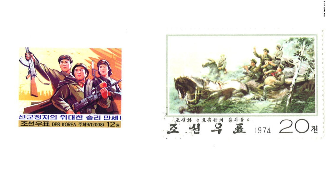 """Propaganda images also often present American presence in South Korea as a form of occupation, and demand the departure of US troops to achieve reunification,"" says Koen de Ceuster, a Leiden University lecturer who recently created an online database of North Korean posters."