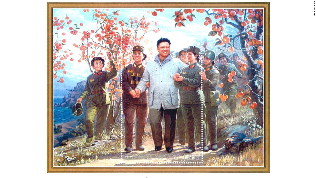 Violent and revolutionary images form just a fraction of the designs appearing on North Korea's postage stamps.