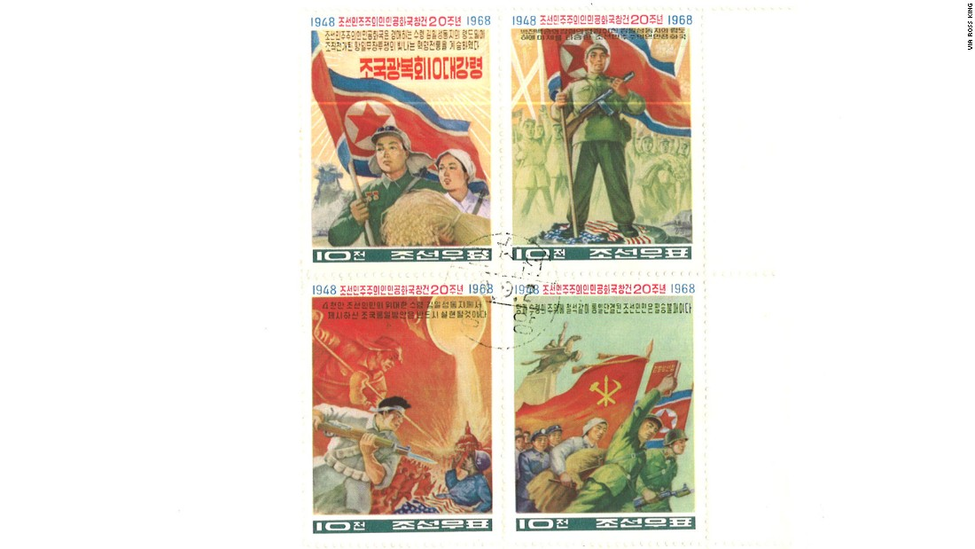 A study by Stockholm University's Gabriel Jonsson found that between 1948 and 2002, North Korea issued around twice as many different stamp designs as South Korea did.