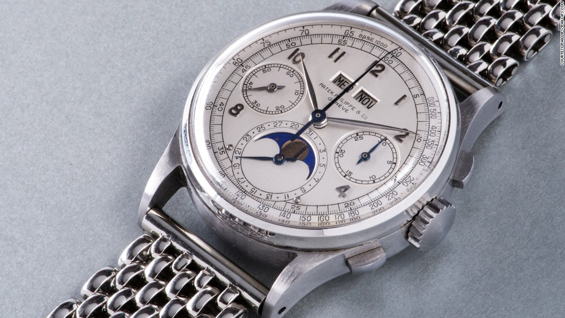 In November 2016, this Patek Philippe perpetual calendar chronograph sold for $11 million at a Phillips auction in Geneva, making it the most expensive wristwatch ever to be sold at auction.