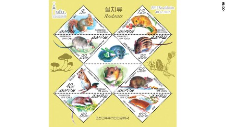 Stamps depicting animals -- like this selection of rodents -- are largely aimed at overseas collectors.