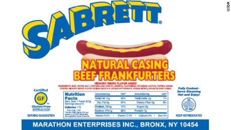 Sabrett says its hot dogs and other products are sold in stores in 21 states and Washington, DC.